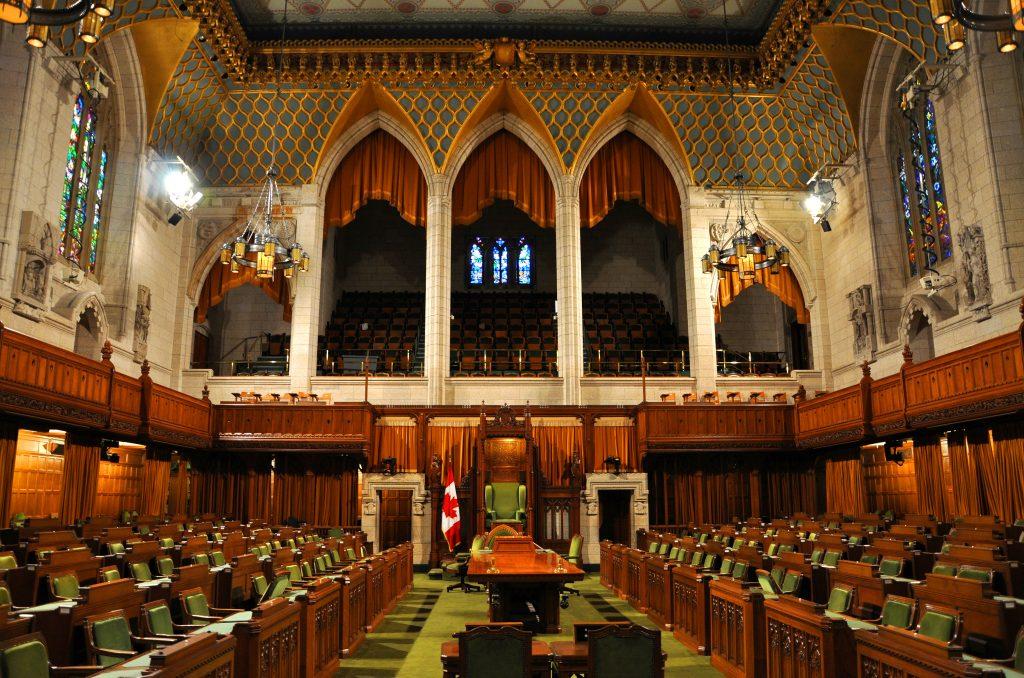 La Chambre des communes du Canada.